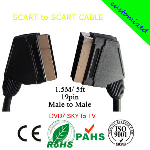 Manufacturer/ Supplier Price Scart to Scart Cable (SY203) pictures & photos