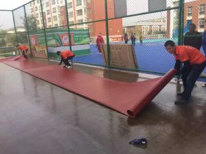 Outdoor PVC Sports Flooring Surface for Badminton and Basketball pictures & photos