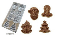 Christmas 8PCS Various Shape Sweetie &Fondant Mould Chocolate Mold