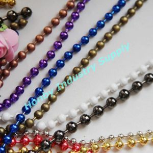 Nickel Plated Metal Beaded Chain for Decoration pictures & photos
