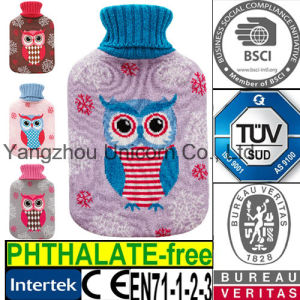 CE Knit Owl Hot Water Bottle Cover