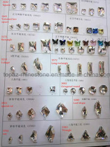 Catalogue Garment Ornament Glass Flat Back Crystal Sew on Stone pictures & photos