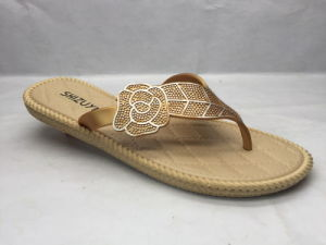 All-Match Slivery PVC Flip Flops Summer Slippers (24ja1719) pictures & photos