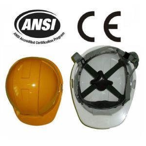 White PE Safety Work Helmet with CE, ANSI (JMC-323R) pictures & photos