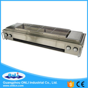 Smokeless Stainless Steel Gas BBQ Grill pictures & photos