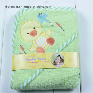 High Quality of Cotton Baby Hooded Bath Towel Poncho pictures & photos
