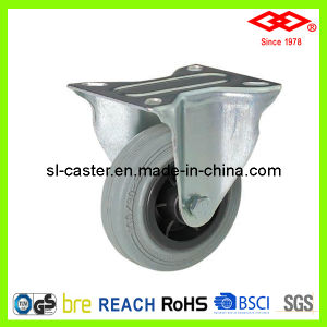 160mm Fixed Plate Grey Rubber Caster Wheel (D102-32D160X40) pictures & photos