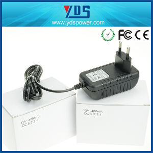 12V 400mA EU Wall Plug Adapter pictures & photos