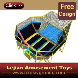 Ce High Quality Round Trampoline Indoor Trampoline Park (TP1205-4) pictures & photos
