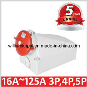 IP67 125A 3p+N+E Industrial Wall Mounted Socket Outlet pictures & photos