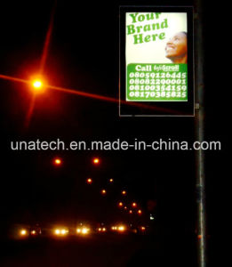 Outdoor Street Lamp Post Banner Backlit film Media LED Solar Light Box with Battery pictures & photos