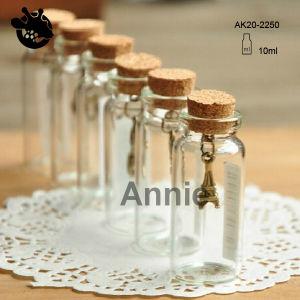 Tube Cork Glass Bottle for Gift