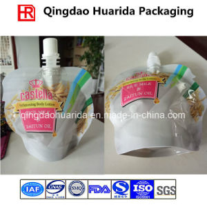 Custom Printed Stand up Spout Pouch for Body Lotion pictures & photos