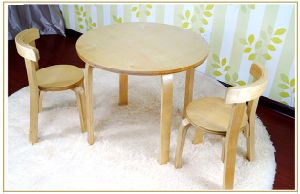 Children Table and Chairs Set Made by Bentwood (M-X1155) pictures & photos