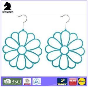 New 2-Piece Velvet with ABS Plastic Flower Velvet Hanger pictures & photos
