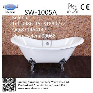 Double Slipper Enamel Cast Iron Bathtubs Sw-1005A
