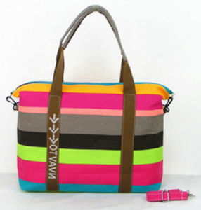 High Quality Stripe Beach Canvas Tote Bag / Cross Body Hobo Bag