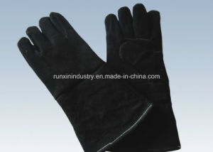 Cow Split Leather Welding Gloves 1120 pictures & photos