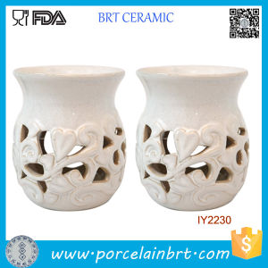 Elegant Candle Jar White Ceramic Candle Holder pictures & photos
