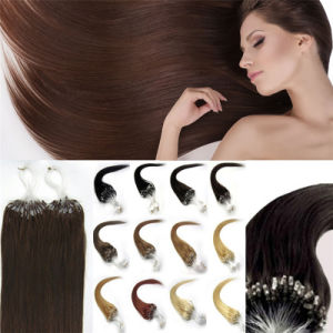 Brazilian Micro Loop Ring Hair Extensions Brazilian Virgin Hair Straight 100g/S Free Shipping Soft Brazilian Hair pictures & photos