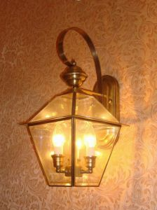 Pw-19032 Copper Wall Lamp with Glass Decorative pictures & photos