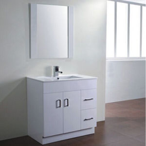 Wall-Mount Undercounter Solid Wood Double Door Bathroom Vanity Cabinet pictures & photos