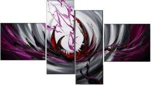 Framed Modern Abstract Decor Oil Painting