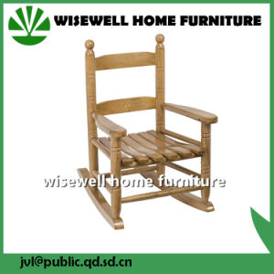 (W-G-C1095) Pine Wood Children Rocking Chair in Living Room pictures & photos