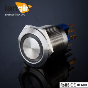 Langir Latching Anti-Vandal Push Button Switch L22 (Dia. 22mm) Ring Illuminated Stainless Steel pictures & photos
