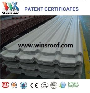 Wins PVC/UPVC Roof Tile Trapezoidal Type High Strengh-UPVC Roof pictures & photos