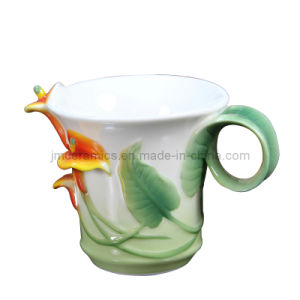 Enamel Porcelain Embossed Coffee Cup pictures & photos