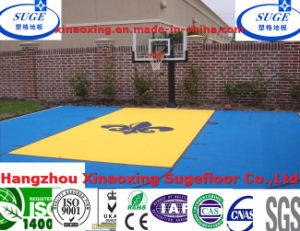with CE and DIN Approval Interlocking Embossed Basketball Flooring pictures & photos