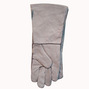 Natural Cowhide Split Leather Welding Gloves pictures & photos