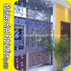China Customed Design Flower Encarving Commercial Wall Partition pictures & photos