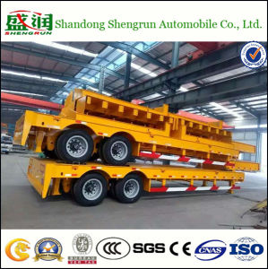 Big Sale 2 Axles Lowbed Semi Trailer/Lowboy Semi Trailer/Truck Trailer
