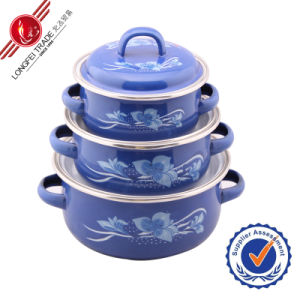 Classical Decal Kitchenware Enamel Cookware Set pictures & photos