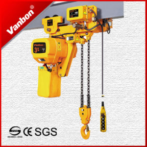 3ton Low Head-Room Electric Chain Hoist for Limitted Space Lifting (WBH-03001DL) pictures & photos