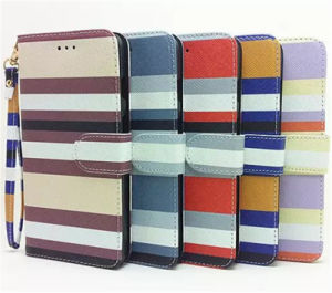 Contrast Color Leather Case Cover for iPhone 6