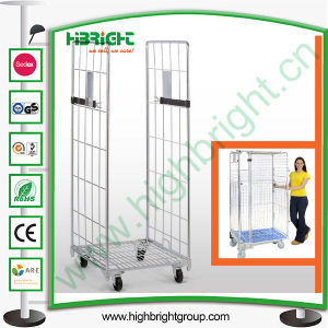 Rolling Metal Storage Foldable Moving Cage with Wheels pictures & photos