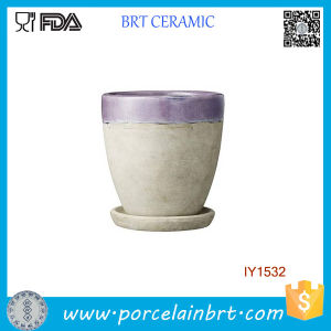 Original Dusty Purple Ceramic Plant Garden Flower Pot pictures & photos