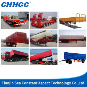 ISO CCC Approved 3 Axles Low Bed Trailer pictures & photos