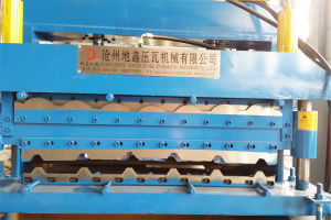 Hydraulic Color Steel Tile Double Layer Roll Forming Machine pictures & photos