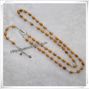 Wood Beads Rosary Made in China Necklace Religious Rosary (IO-cr026) pictures & photos