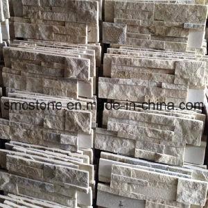 18*35cm Hot Sale China Yellow White Quartzite Stone Wall Cladding pictures & photos