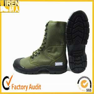 Waterproof Corder Green Color Military Army Training Shoes pictures & photos