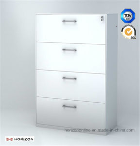 Metal Lateral Filing Cabinet with 4 Drawers pictures & photos