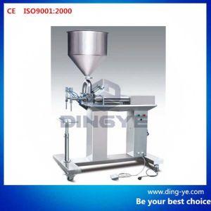 Semi Automatic Double Nozzle Paste Filler pictures & photos