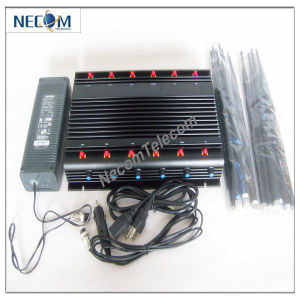 2015 New 12 Antennas Cellular-WiFi-GPS-Lojack-433-315MHz All in One Jammer, Jammer 12 Antennas pictures & photos