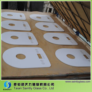 3mm/4mm/5mm/6mm Special Shape Tempered Touch Screen for Milk Heater with White Silk Screen Printing pictures & photos