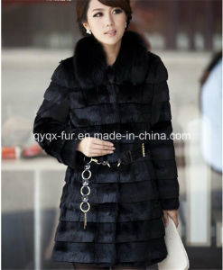 Hot Selling Women Fake Rabbit Fur Coat Qy-A1 pictures & photos